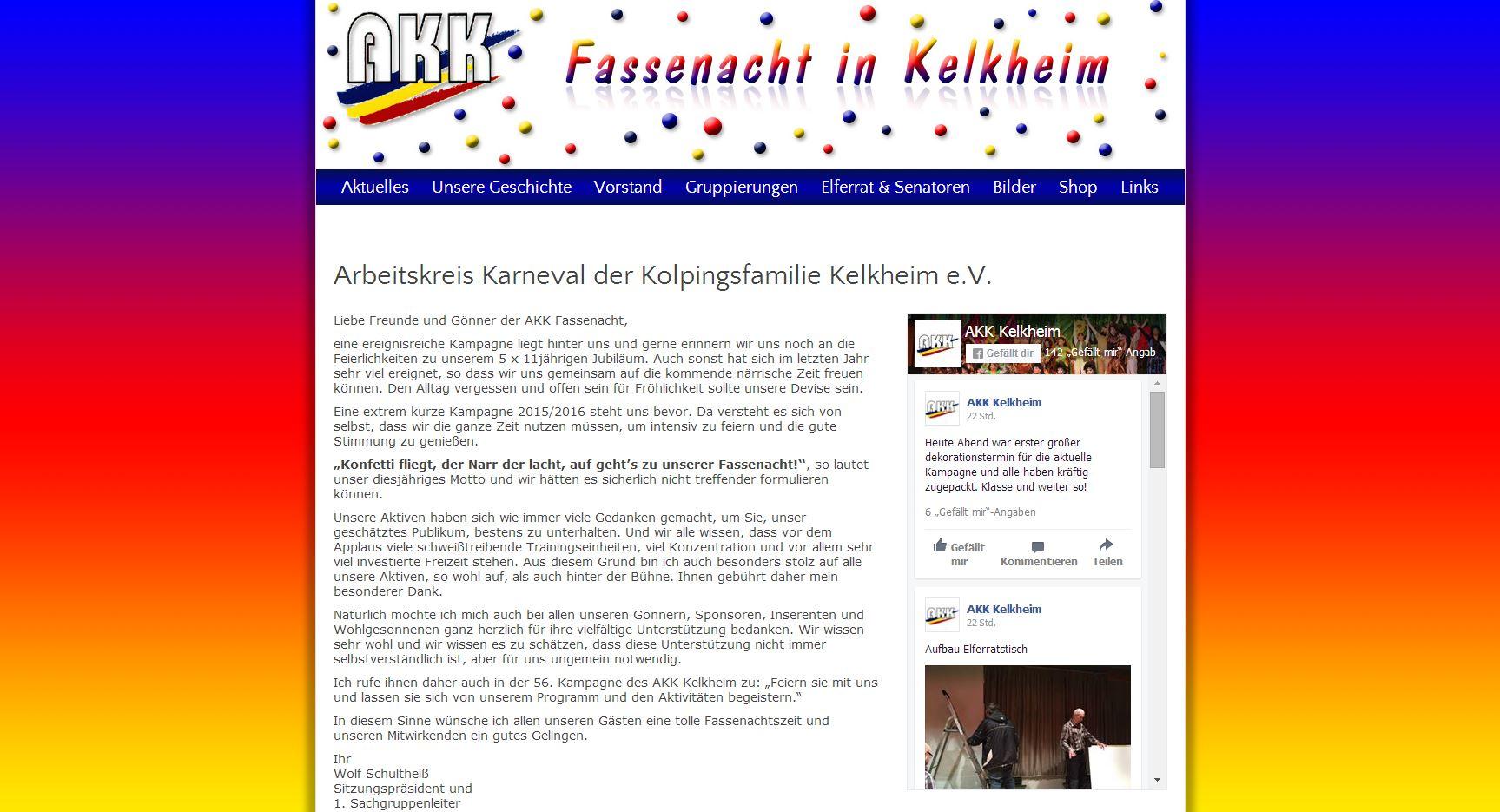 Website des AKK Kelkheim 2012 bis 2020